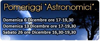 pomeriggi astronomici all'osservatorio
