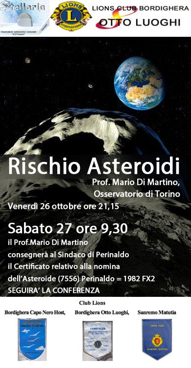 Conferenza Prof. Mario Di Martino - Rischio Asteroidi
