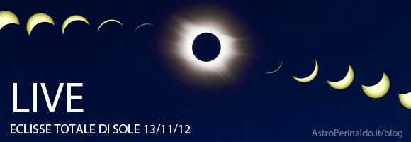 Seguire in diretta l'Eclisse Totale di Sole del 13 Novembre 2012.