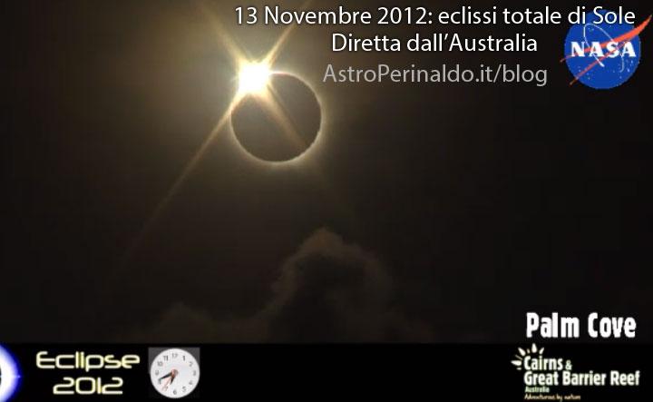 Immagine Eclisse Totale di Sole 2012 11 13