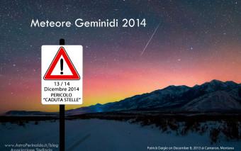 Spettacolo di stelle cadenti nelle fredde notti di Dicembre!