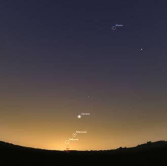 pianeti la mattina del 30 settembre