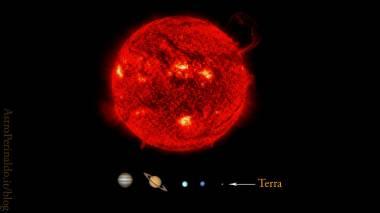le dimensioni del sole