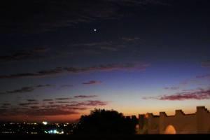 Venere nel cielo serale
