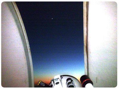 venere vista dalla cupola dell'osservatorio