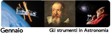 gli strumenti in astronomia