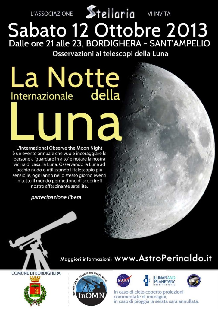 Notte della Luna 2013 moon watch party